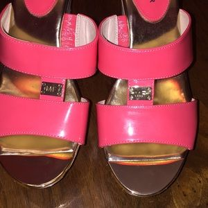 Marc Fisher Coral William Wedge Sandals